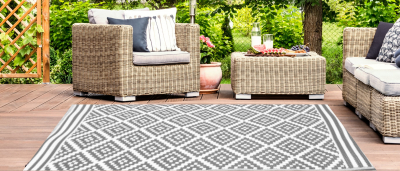 Outdoor Synthetic Rug Carpet Austin gray 90x150cm