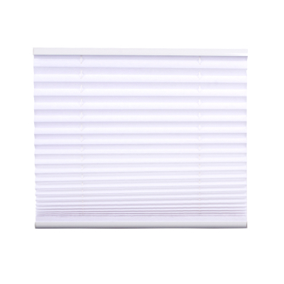 Pleated Blind, white 130 cm x 65 cm width