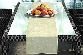 Table runner suiting to design cushion set 'Nizza' brown