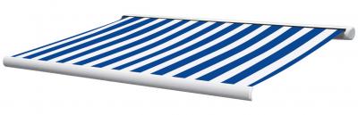 Full cassette awning Sunshade 5 x 3 m blue/white