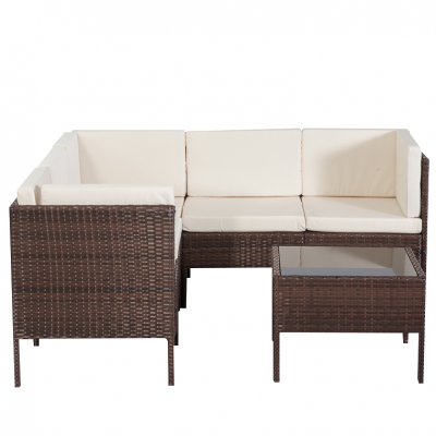 Garden furniture dining det chile in brown