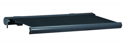 Vollkassettenmarkise Sunshade 5 m in grau/grau Markise mit Motor