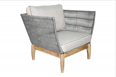 Design garden armchair Puerto Rico with rope winding also for in