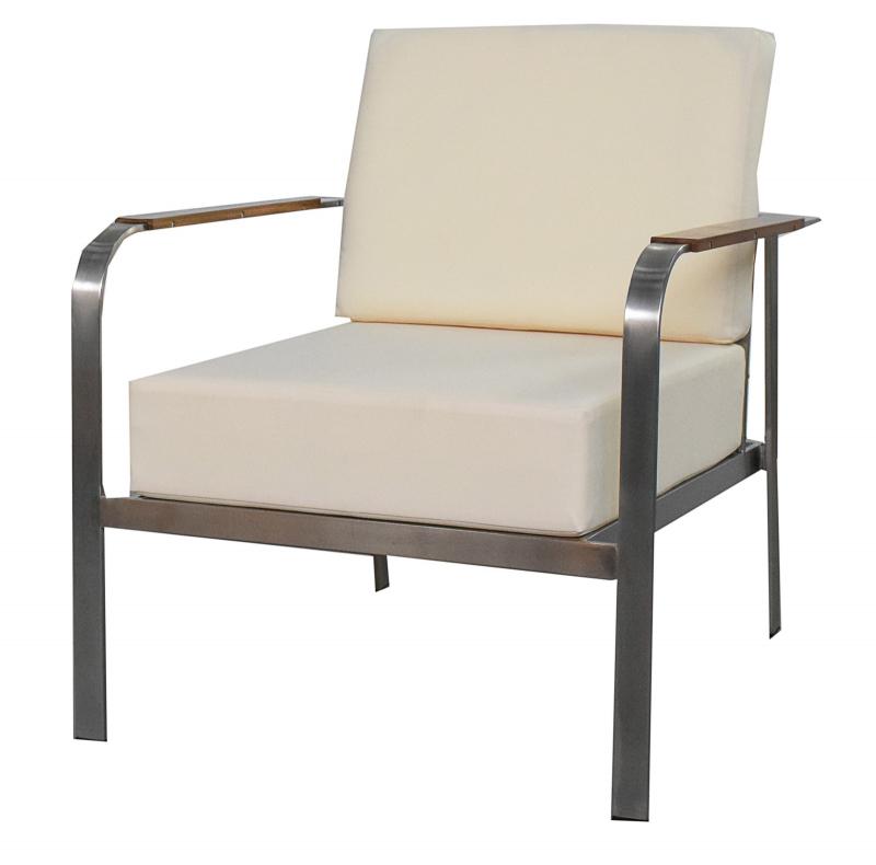 Chaise pour salon de jardin moderne Aphrodite, crème