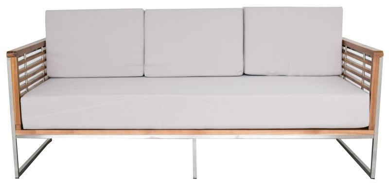 3 Sitzer Sofa Fur Gartensets Artemis Akazienholz Edelstahl