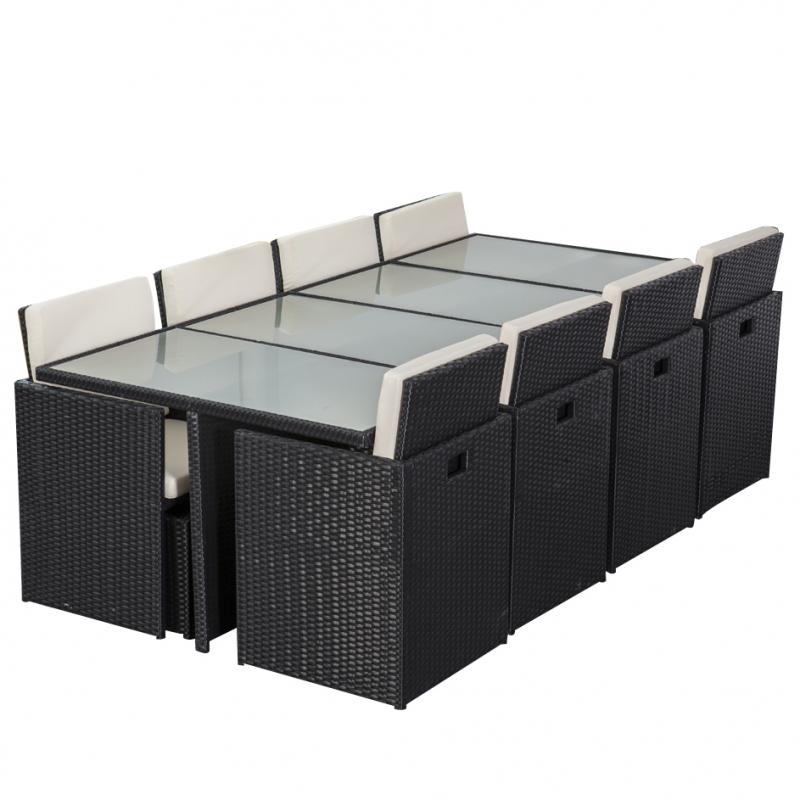 essgruppe sitzgruppe gartenm bel polyrattan gartenmoebel polyrattan und holz m bel von jet line. Black Bedroom Furniture Sets. Home Design Ideas