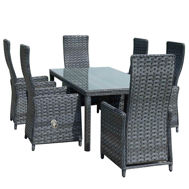 Jet Line Gartenmöbel Sitzgruppe Essgruppe Sitzgarnitur Terrasse Modern