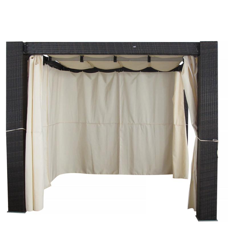 pergola pavillon polyratta gartenmoebel polyrattan und holz m bel von jet line. Black Bedroom Furniture Sets. Home Design Ideas