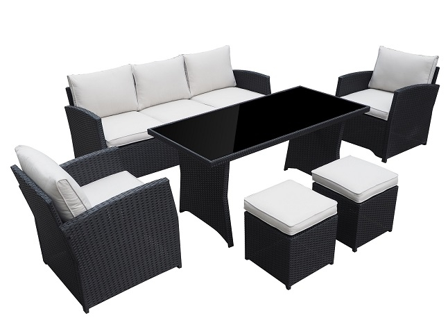 gartenset loungem bel gartenm bel garten gartenmoebel polyrattan und holz m bel von jet line. Black Bedroom Furniture Sets. Home Design Ideas