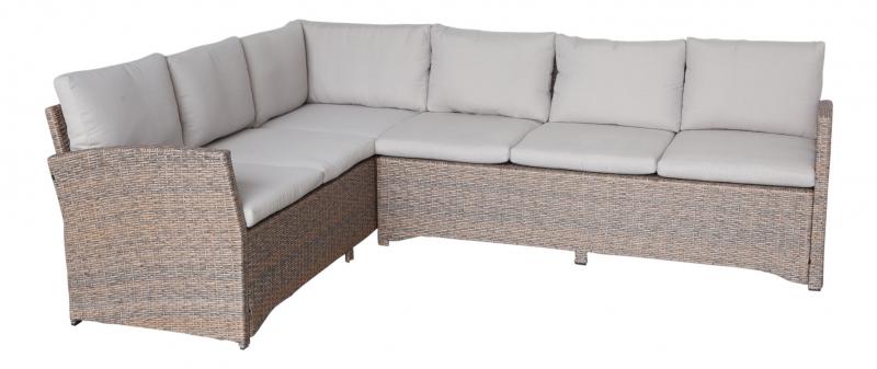 la palma ii garten lounge ecksofa terasse balkon gartenmoebel polyrattan und holz m bel von. Black Bedroom Furniture Sets. Home Design Ideas