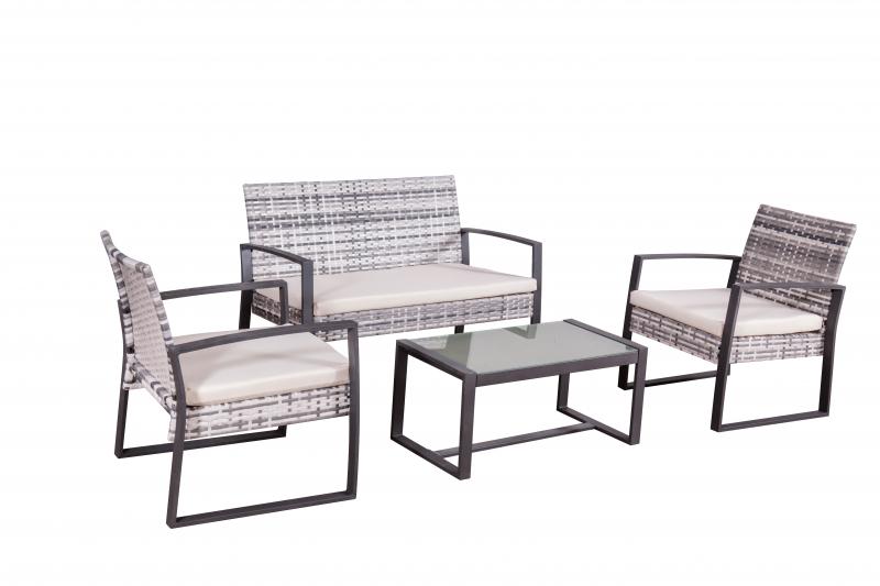 Gartenmobel Lounge Set Salamanca In Grau