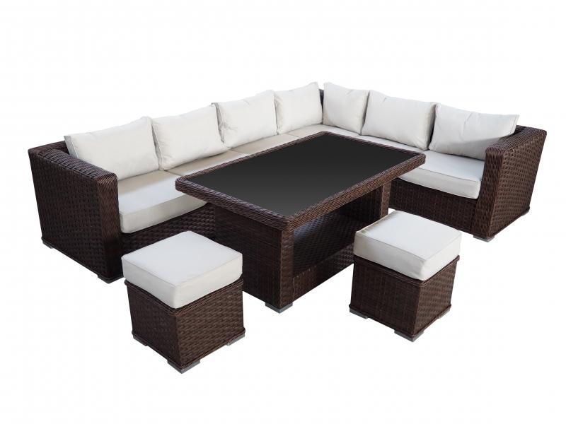 Fauteuil lounge Salon de jardin Saragossa en brun