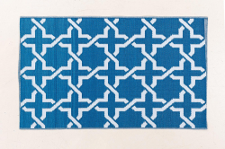 Jet-Line Outdoor Synthetic Rug MODERN 90 x 150 cm, blue
