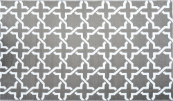 Outdoor Synthetic Rug Carpet Modern gray 150x240cm