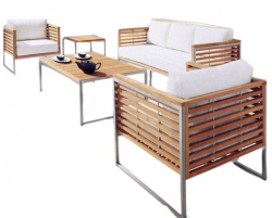 3-Seater Sofa for Garden-Set