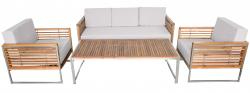 3-Seater Sofa for Garden-Set