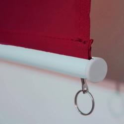 Sichtschutzrollo 1,7 x 2,3 m bordeaux Außenrollo