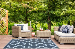 Jet-Line Outdoor Synthetic Rug KATE 150 x 240 cm, black