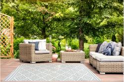 Outdoor Kunststoffteppich Josefine 120x180cm braun