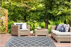 Outdoor Kunststoffteppich Josefine 150x240cm schwarz