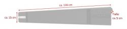 Jet-Line Electric Patio Heater Dark Radiator