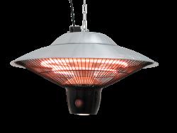 Jet-Line Electric Halogen Patio Heater Ceiling Lamp ATLAS, silver