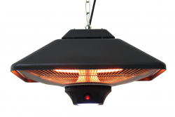 Jet-Line Electric Patio Heater Ceiling Lamp MIRA, black