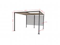 Jet-Line Pavilion Gazebo AMUN 3 x 4 m, anthracite-brown