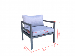 Jet-Line Outdoor Lounge Chair for