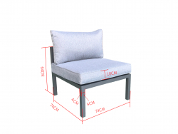 Jet-Line Middle-Piece for Outdoor Lounge