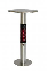 Table with integrated heater CAPELLA, stainless steel
