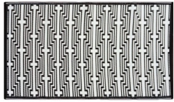 Jet-Line Outdoor Synthetic Rug CYNTHIA 90 x 150 cm, black