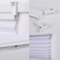 Pleated Blind, white 130 cm x 50 cm width