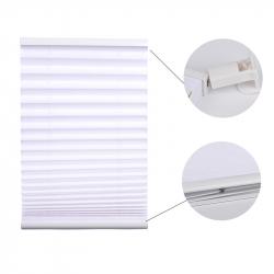 Pleated Blind, white 130 cm x 55 cm width