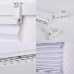 Pleated Blind, white 130 cm x 60 cm width