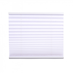 Pleated Blind, white 130 cm x 75 cm width
