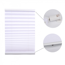 Pleated Blind, white 130 cm x 75 cm width