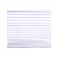 Pleated Blind, white 130 cm x 80 cm width