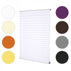 Pleated Blind white 130 cm x 100 cm width