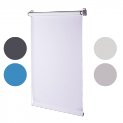 Roller Blind, white opaque 150 cm x 90 cm width