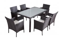 Garden furniture dining Set Mexiko black