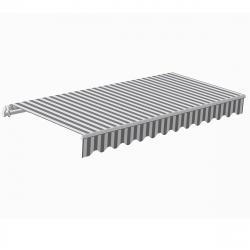 Markise Sunshine 4,0 m in grau/weiß I Gelenkarmmarkise