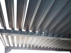 Pavilion DUBAI II with lamella roof 4 x 3 m aluminium
