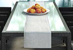 Table runner suiting to design cushion set  'Nizza' black