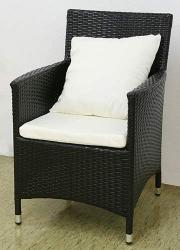 Garden chair Nizza black