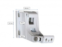 Wall bracket for full cassette awning