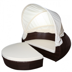 Sun day bed 'Samoa', brown