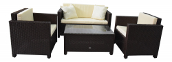 Garden furniture lounge set Cannes in brown