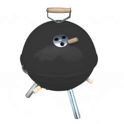 Mini BBQ grill in black