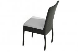 Chaise de jardin Alba en noir